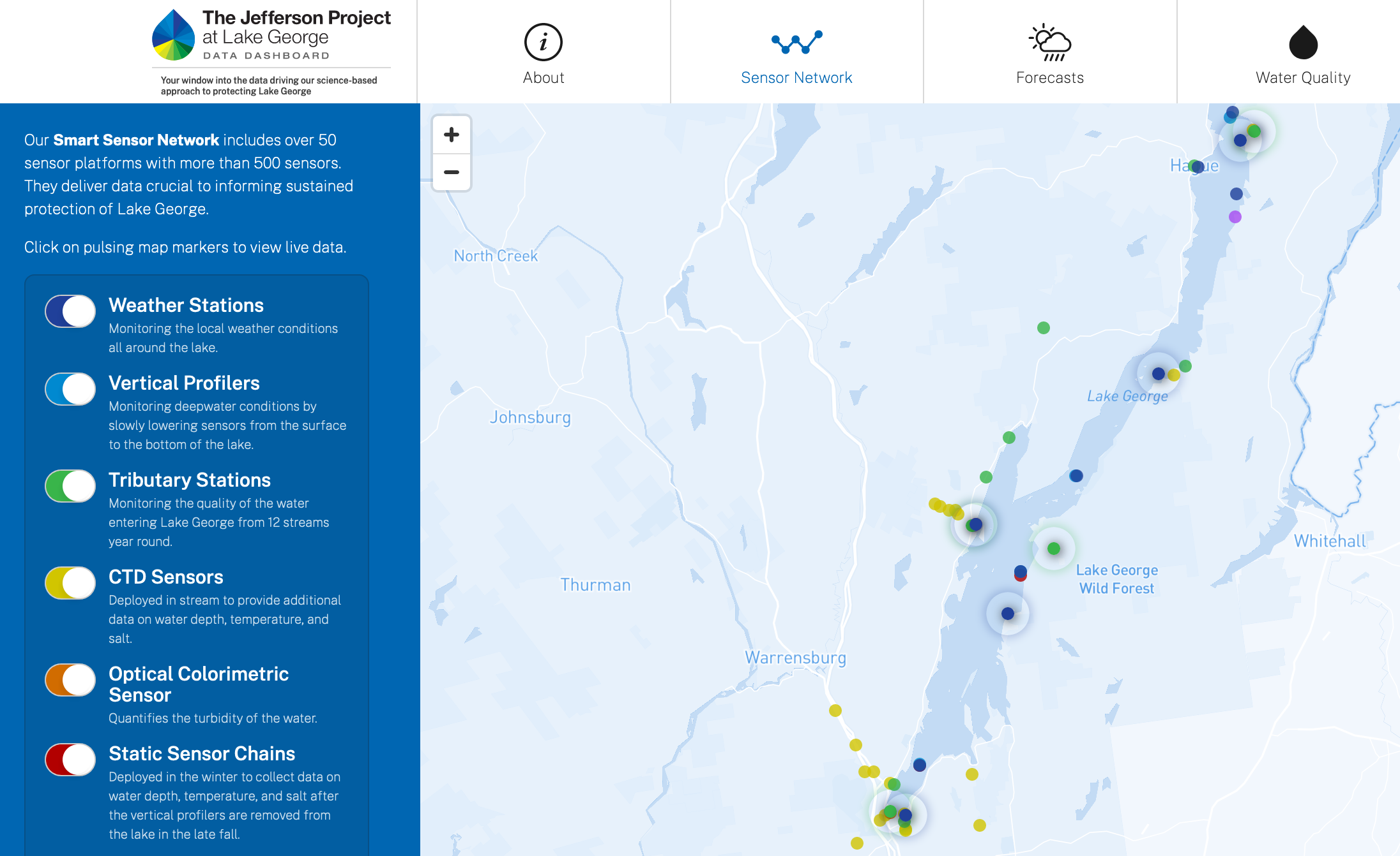 Jefferson Project Makes Lake George Science Data Publicly Available Through New Digital Dashboard - Rensselaer Polytechnic Institute