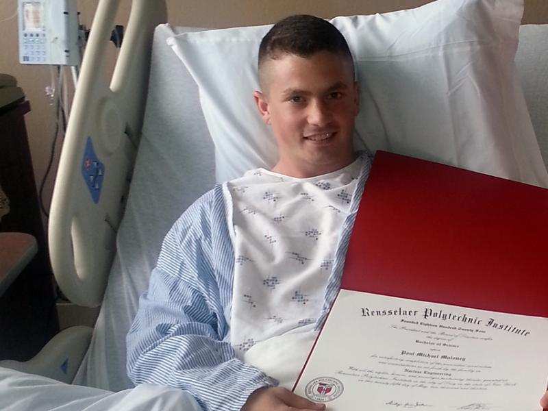 After Emergency Appendectomy, Class of 2013 Rensselaer